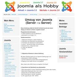 Joomla Umzug (Server