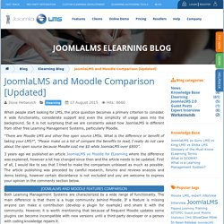 and Moodle Comparison [Updated]