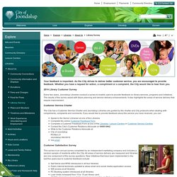 City of Joondalup > Explore > Libraries > About Us > Library Survey