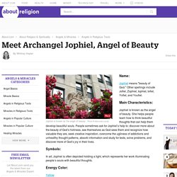 Angel Jophiel Profile - Characteristics, Symbols & More