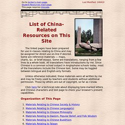 Jordan: China Resources Page