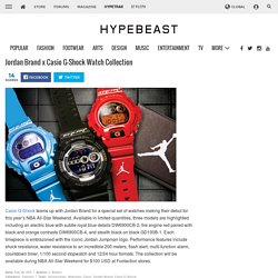 Jordan Brand x Casio G-Shock Watch Collection