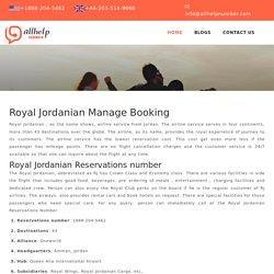 Royal Jordanian Reservations number