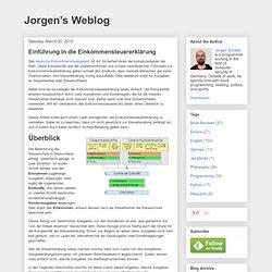 Jorgen's Weblog: Einführung in die Einkommensteuererklärung