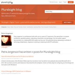 Petra Jorgenson, Content Author on Pluralsight blog