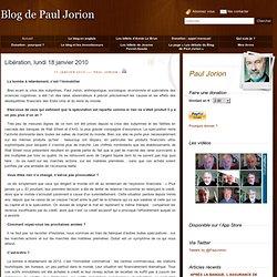 Libération, lundi 18 janvier 2010