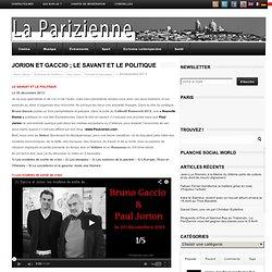 Jorion et Gaccio ; le savant et le politique