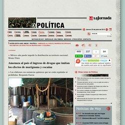 La Jornada: Amenaza al país el ingreso de drogas que imitan los efectos de mariguana y cocaína