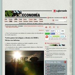 Varios países investigan a clientes de HSBC; México no informa