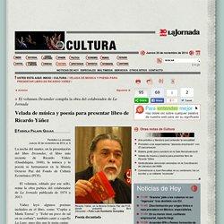 La Jornada: Velada de música y poesía para presentar libro de Ricardo Yáñez