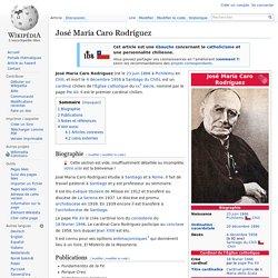 José María Caro Rodríguez — Wikipédia