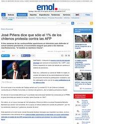 José Piñera dice que sólo el 1% de los chilenos protesta contra las AFP
