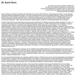 Josef Macek - Socialismus: IX. Karel Marx