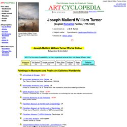 Joseph Mallord William Turner Online