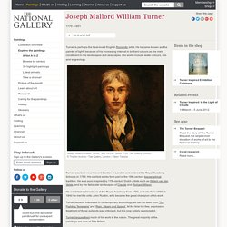 The National Gallery - William Turner