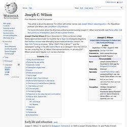 Joseph C. Wilson