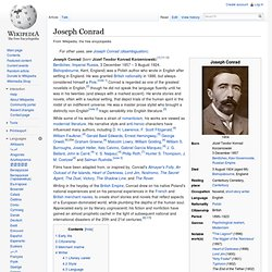 Joseph Conrad - Wikipedia, the free encyclopedia