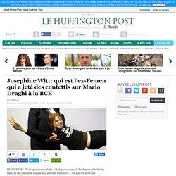 Josephine Witt: qui est l'ex-Femen qui a jeté des confettis sur Mario Draghi à la BCE
