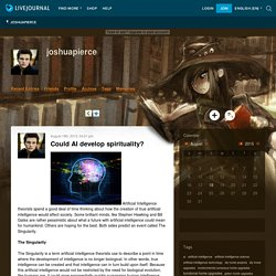 joshuapierce - Could AI develop spirituality?