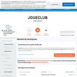 document 7 JOUECLUB (SOISSONS) Chiffre d'affaires, résultat, bilans sur SOCIETE.COM - 408818276