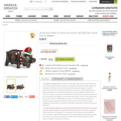 Jouet pour chien en forme de cochon de Noël qui couine -M&S