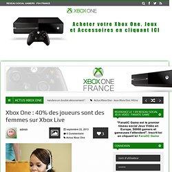 Xbox One : 40% des joueurs sont des femmes sur Xbox Live sur XboxOneFrance.fr