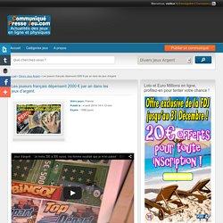 Les joueurs français dépensent 2000 € par an dans les jeux d'argent. -