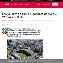 Les joueurs de Ligue 1 gagnent de 13 à... 716 fois le Smic