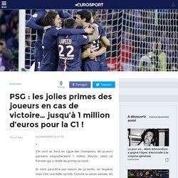 PSG : les jolies primes des joueurs en cas de victoire… jusqu'à 1 million d'euros pour la C1 ! - Economie