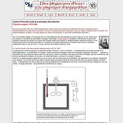 Joule & la physique des plasmas