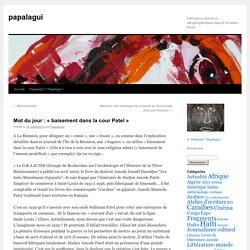 Mot du jour : «baisement dans la cour Patel»