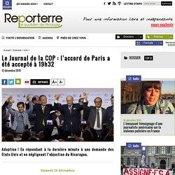 Le Journal de la COP: l'accord de Paris a été accepté à 19h32