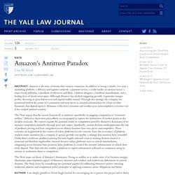 amazon antitrust paradox