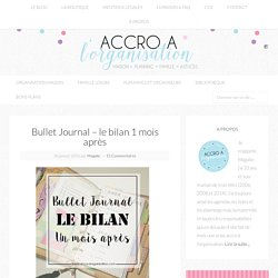 bullet journal Archives - Accro à l'Organisation