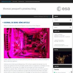 Proxima : Le blog de Thomas Pesquet