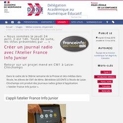 Créer un journal radio avec l'Atelier France Info Junior