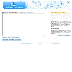 Journal / Author Name Estimator (Jane)