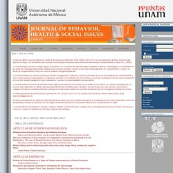 Journal of Behavior, Health & Social Issues