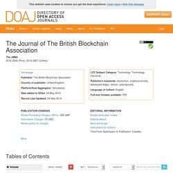 The Journal of The British Blockchain Association