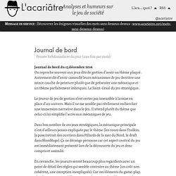 Journal de bord – L'acariâtre