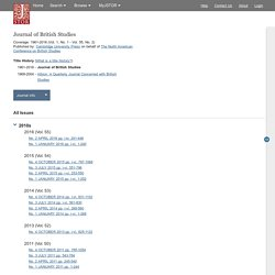 Journal of British Studies on JSTOR