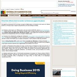 Climat des affaires dans le monde: Le Cameroun gagne dix places