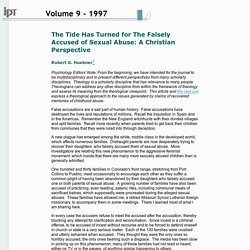 "IPT Journal - ""The Tide Has Turned for The Falsely Accused of Sexual Abuse: A Christian Perspective"""