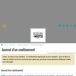 Journal d'un confinement - Tisseurs de mots