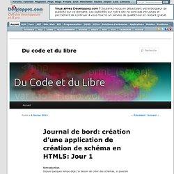 Journal de bord: création d'une application de création de schéma en HTML5: Jour 1