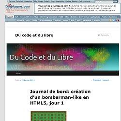 Journal de bord: création d'un bomberman-like en HTML5, jour 1