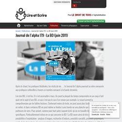 Journal de l'alpha 179: La BD (juin 2011)