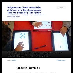 Doigtdecole : l'école du bout des doigts ou le tactile et ses usages en Éducation