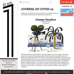 Journal du covid-19 (chronique d'Eric Fottorino)