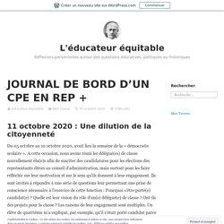 fév JOURNAL DE BORD D'UN CPE EN REP + – L'éducateur équitable